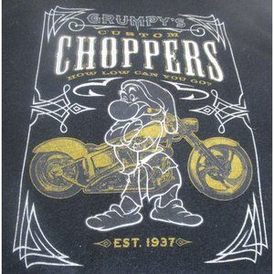 Disney Grumpy Choppers Black T Shirt Size L